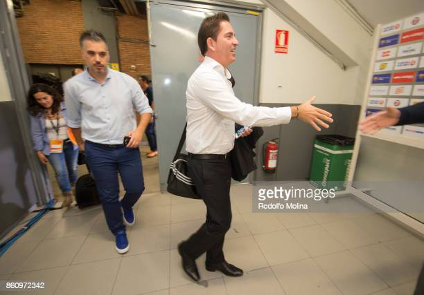 Xavi Pascual Head Coach of Panathinaikos Superfoods Athens arriving to the arena prior the 2017/2018 Turkish Airlines EuroLeague Regular Season Round...