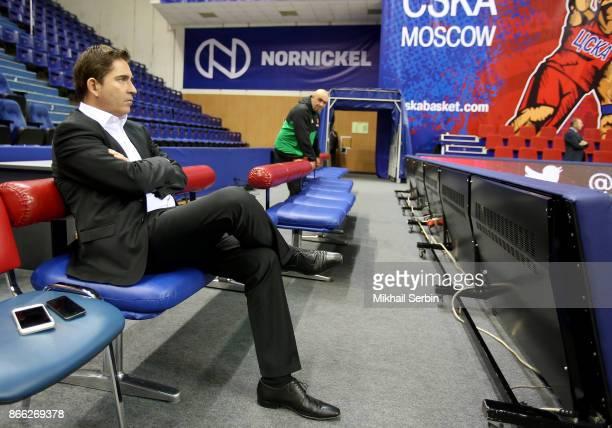 Xavi Pascual Head Coach of Panathinaikos Superfoods Athens before the 2017/2018 Turkish Airlines EuroLeague Regular Season game between CSKA Moscow...