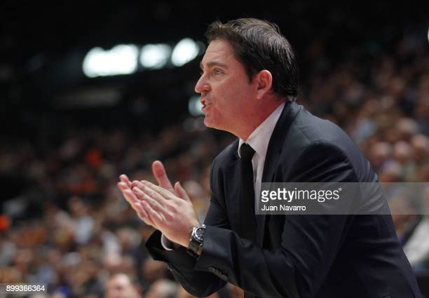 Xavi Pascual Head Coach of Panathinaikos Superfoods Athens during the 2017/2018 Turkish Airlines EuroLeague Regular Season Round 15 game between...
