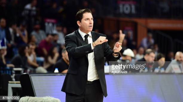 Xavi Pascual Head Coach of Panathinaikos Superfoods Athens in action during the 2017/2018 Turkish Airlines EuroLeague Regular Season Round 8 game...