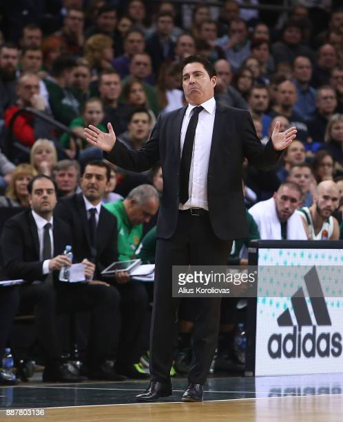 Xavi Pascual Head Coach of Panathinaikos Superfoods Athens in action during the 2017/2018 Turkish Airlines EuroLeague Regular Season Round 11 game...
