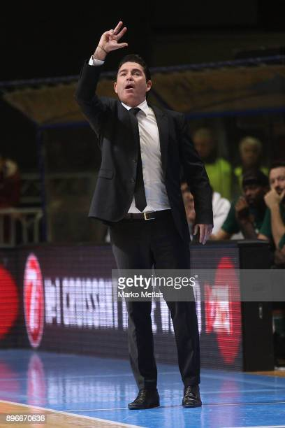 Xavi Pascual Head Coach of Panathinaikos Superfoods Athens in action during the 2017/2018 Turkish Airlines EuroLeague Regular Season game between...