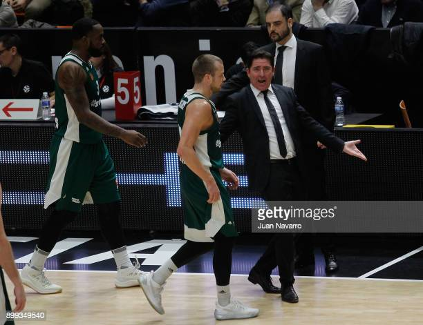 Xavi Pascual Head Coach of Panathinaikos Superfoods Athens in action during the 2017/2018 Turkish Airlines EuroLeague Regular Season Round 15 game...