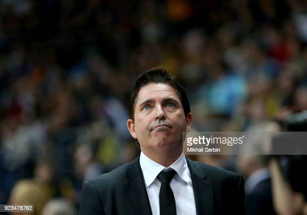 Xavi Pascual Head Coach of Panathinaikos Superfoods Athens in action during the 2017/2018 Turkish Airlines EuroLeague Regular Season Round 23 game...
