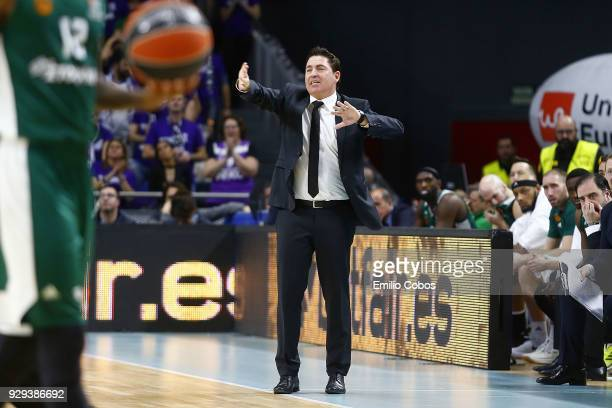 Xavi Pascual Head Coach of Panathinaikos Superfoods Athens in action during the 2017/2018 Turkish Airlines EuroLeague Regular Season Round 25 game...