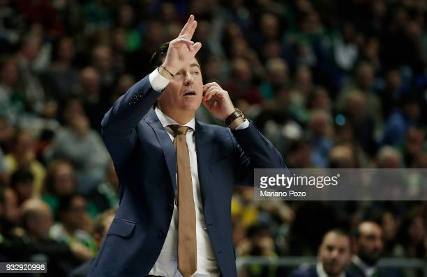 Xavi Pascual Head Coach of Panathinaikos Superfoods Athens in action during the 2017/2018 Turkish Airlines EuroLeague Regular Season Round 26 game...