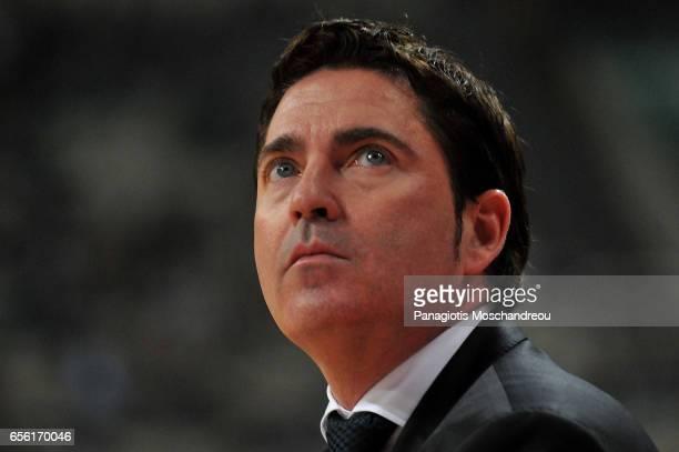 Xavi Pascual Head Coach of Panathinaikos Superfoods Athens react during the 2016/2017 Turkish Airlines EuroLeague Regular Season Round 27 game...