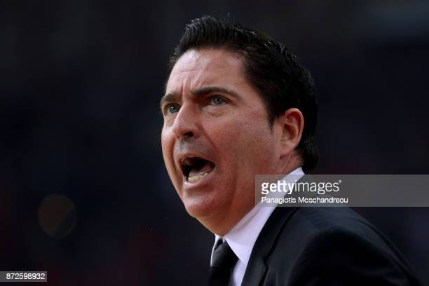 Xavi Pascual Head Coach of Panathinaikos Superfoods Athens react during the 2017/2018 Turkish Airlines EuroLeague Regular Season Round 6 game between...