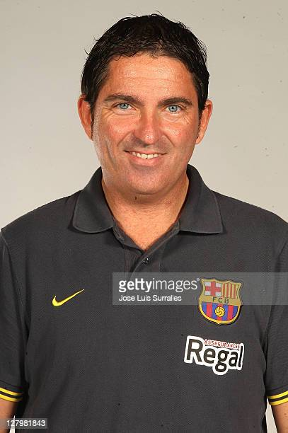 Xavi Pascual Head Coach poses during the FC Barcelona Regal 2011/2012 Turkish Airlines Euroleague Basketball Media day at palau Blaugrana on October...