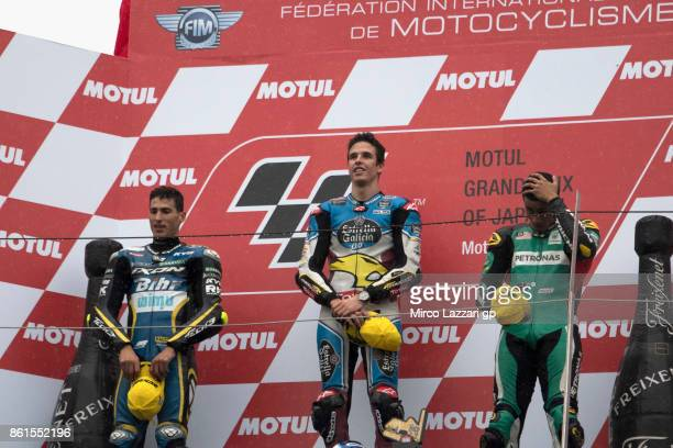 Xavi Vierge of Spain and Tech3 Racing Alex Marquez of Spain and EG 00 Marc VDS and Hafizh Syahrin of Malaysia and Petronas Raceline Malaysia...