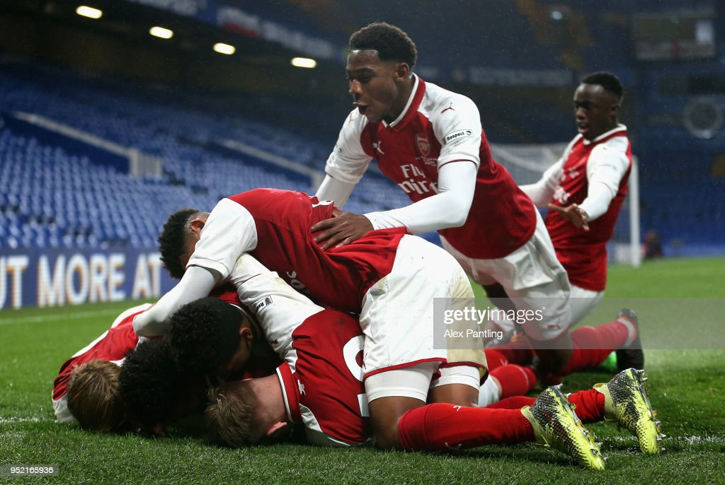 Chelsea v Arsenal - FA Youth Cup Final: First Leg : ニュース写真