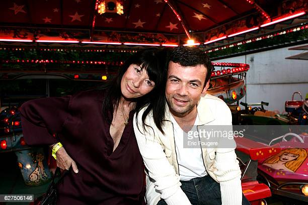 Xavier Anthony and his mother at the 'Tuileries Fun Fair' in Paris