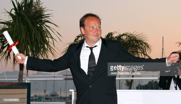 Xavier Beauvois attends the Palme d'Or Award Ceremony Photo Call held at the Palais des Festivals during the 63rd Annual International Cannes Film...