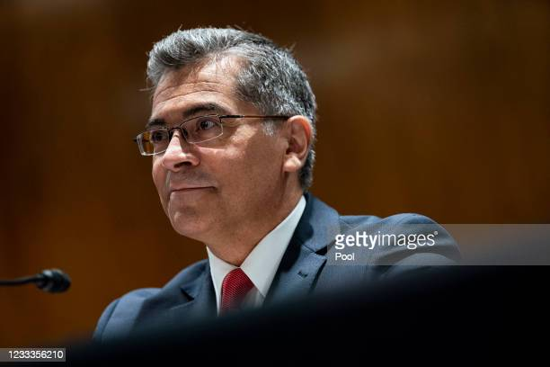 Xavier Becerra, Secretary of Health and Human Services , testifies during a Senate Appropriations Subcommittee hearing on June 9, 2021 at the U.S....