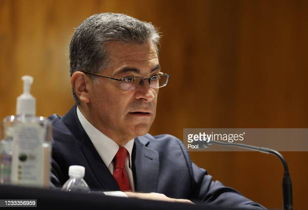 Xavier Becerra, Secretary of the Department of Health and Human Services ,testifies before a Senate Appropriations Subcommittee at the U.S. Capitol...