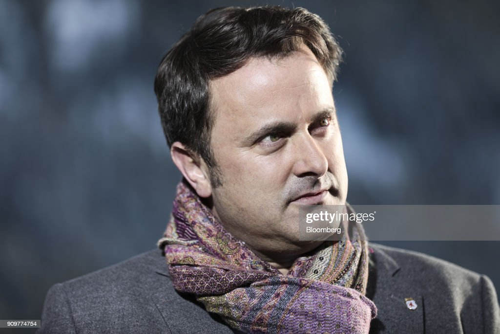 Xavier Bettel, Luxembourg's prime minister, listens during a Bloomberg Television interview on day two of the World Economic Forum (WEF) in Davos, Switzerland, on Wednesday, Jan. 24, 2018. World leaders, influential executives, bankers and policy makers attend the 48th annual meeting of the World Economic Forum in Davos from Jan. 23 - 26. Photographer: Simon Dawson/Bloomberg via Getty Images