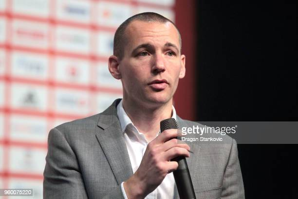 Xavier Bidault IMG Media Commercial Director Basketball during the 2018 Turkish Airlines EuroLeague F4 Sports Business MBA at Stark Arena on May 19...