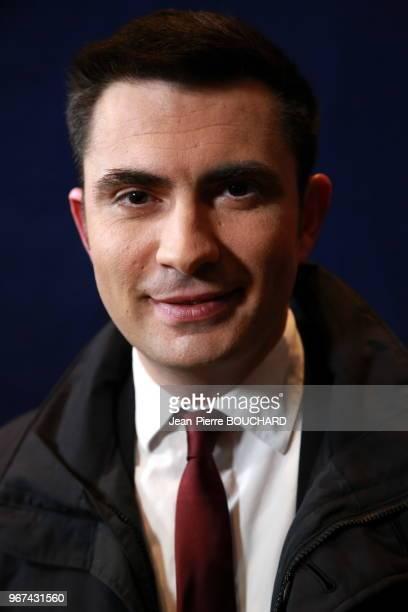 Xavier Bonnefont maire dAngoulême au soir des résultats des élections régionales pour la région Aquitaine Limousin PoitouCharentes 13 décembre 2015...