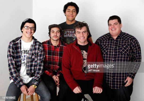 Xavier Candelaria, Bryce Esquivel, John Swava, director Parris Patton and Joe Candelaria pose for a portrait during the 2012 Sundance Film Festival...