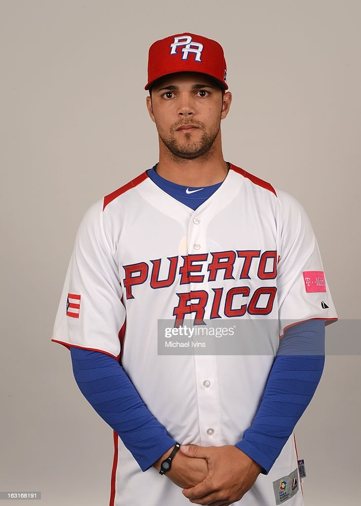 Xavier Cedeno #55 of Team Puerto Rico poses for a headshot for the 2013 World Baseball Classic at the City of Palms Baseball Complex on Monday, March 4, 2013 in Fort Myers, Florida.