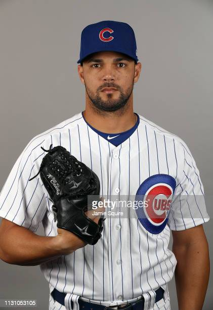 Xavier Cedeno poses for a portrait during Chicago Cubs photo day on February 20 2019 in Mesa Arizona