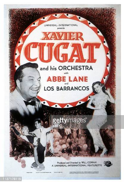 Xavier Cugat And His Orchestra poster lr Xavier Cugat Abbe Lane on poster art 1952