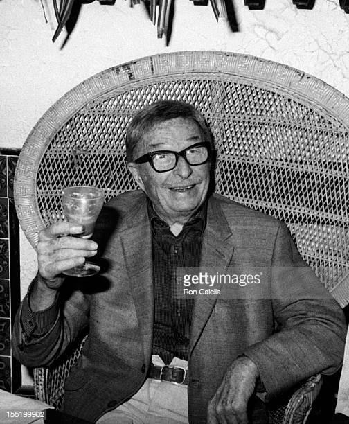Xavier Cugat attends 86th Birthday Party for Xavier Cugat on January 2, 1981 at Casa Cugat Restaurant in Los Angeles, California.