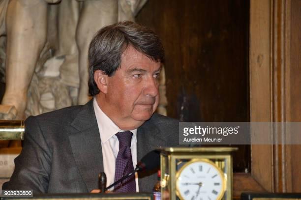 Xavier Darcos attends the Prix Histoire et Prix Patrimoine 2017 de La Fondation Stephane Bern at Institut de France on January 11 2018 in Paris France