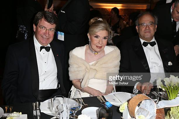 Xavier Darcos Marianna Vadinoryanis and David Khayat attend the David Khayat Association 'AVEC' Gala Dinner at Chateau de Versailles on February 4...