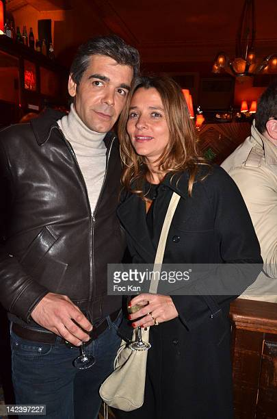 Xavier de Moulins and his wife Anais de Moulins attend La Closerie des Lilas Litterary Awards 2012 5th Edition at La Closerie Des Lilas on April 3...