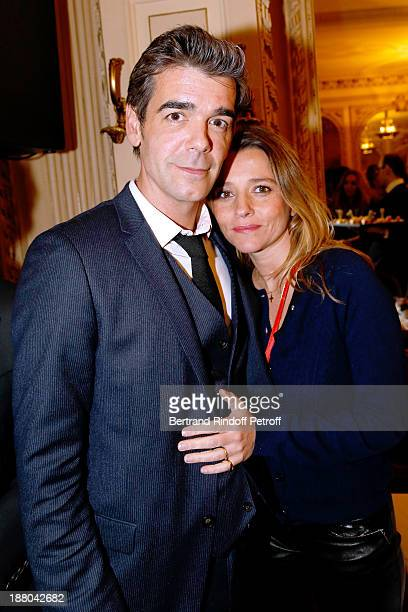 Xavier De moulins and his wife Anais De Moulins attend the 50th Anniversary party of Stephane Bern called 'Half a century it's party' celebrated at...