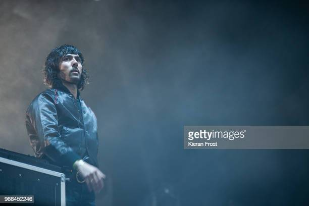 Xavier de Rosnay of Justice performs at Forbidden Fruit Festival on June 2, 2018 in Dublin, Ireland.