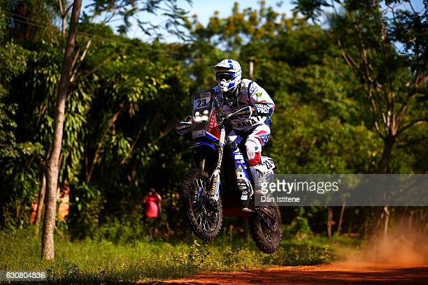 Xavier De Soultrait of France and Yamaha HFP rides a WR 450 F Yamaha bike in the Classe 21 Super Production during stage one of the 2017 Dakar Rally...