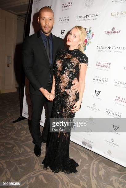 Xavier Delarue and Tatiana Laurens Delarue attend the 41st 'The Best' Award Ceremony in Paris Paris Fashion Week Haute Couture Spring Summer 2018 at...