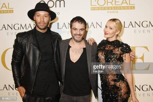 Xavier Delarue fashion designer Jean Paul Benielli and Tatiana Laurens Delarue attend the 'The Couture Ball' Le Jean Paul Benielli Show Party at Le...