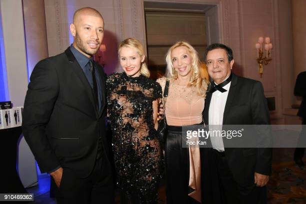 Xavier Delarue Tatiana Laurens Delarue Sylvie Elias and Edouard Nahum attend the 41st 'The Best' Award Ceremony in Paris Paris Fashion Week Haute...