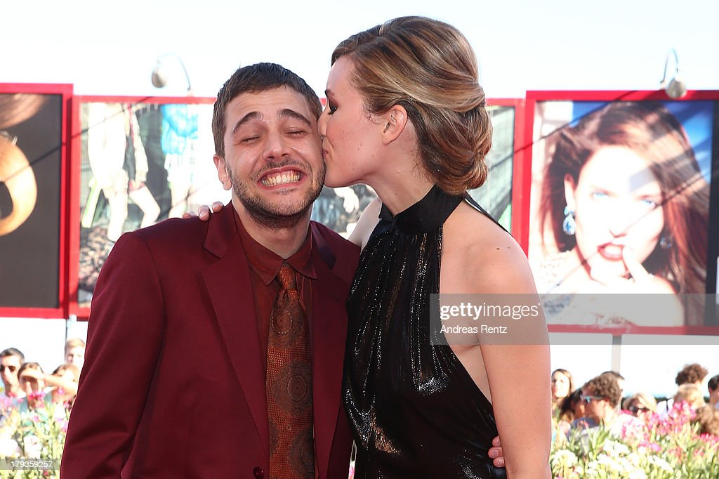 Xavier Dolan and Evelyne Brochu attend 'Tom At The Farm' Premiere during the 70th Venice International Film Festival at the Palazzo del Cinema on September 2, 2013 in Venice, Italy.