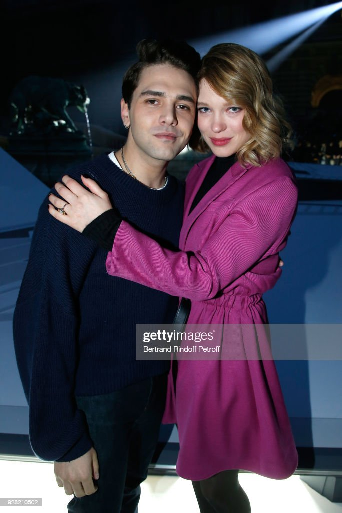 Xavier Dolan and Lea Seydoux attend the Louis Vuitton show as part of the Paris Fashion Week Womenswear Fall/Winter 2018/2019 on March 6, 2018 in Paris, France.