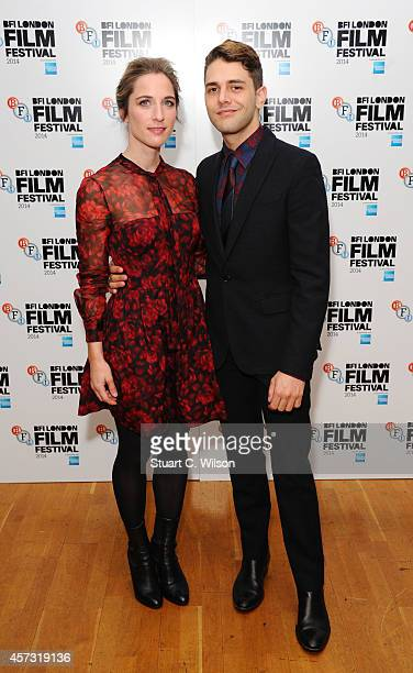 Xavier Dolan and Nancy Grant attend the red carpet arrivals of 'Mommy' during the 58th BFI London Film Festival at Odeon West End on October 16 2014...