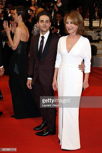 Xavier Dolan and Nathalie Baye attend the 'It's Only The End Of The World ' Premiere during the 69th annual Cannes Film Festival at the Palais des...