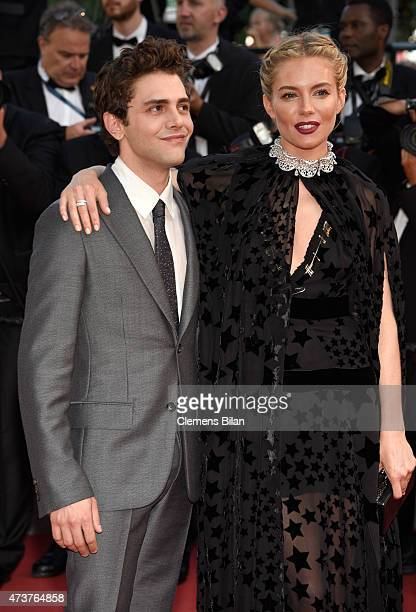 Xavier Dolan and Sienna Miller attend the Premiere of Carol during the 68th annual Cannes Film Festival on May 17 2015 in Cannes France