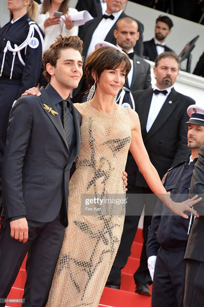 Xavier Dolan and Sophie Marceau attend the closing ceremony and Premiere of 'La Glace Et Le Ciel' ('Ice And The Sky') during the 68th annual Cannes Film Festival on May 24, 2015 in Cannes, France.