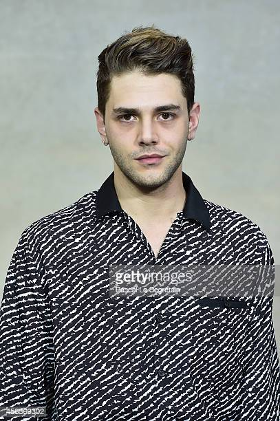 Xavier Dolan attends the Chanel show as part of the Paris Fashion Week Womenswear Spring/Summer 2015 on September 30 2014 in Paris France