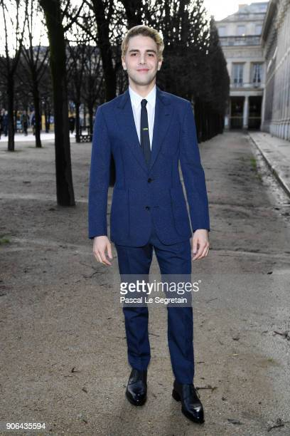 Xavier Dolan attends the Louis Vuitton Menswear Fall/Winter 20182019 show as part of Paris Fashion Week on January 18 2018 in Paris France