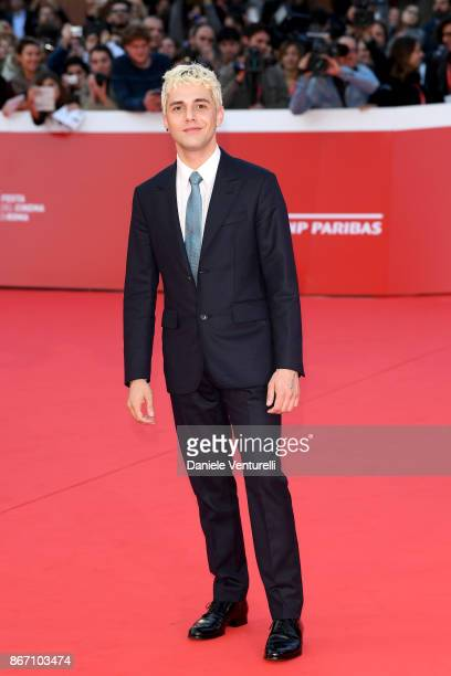 Xavier Dolan walks a red carpet during the 12th Rome Film Fest at Auditorium Parco Della Musica on October 27 2017 in Rome Italy