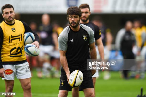 Xavier Garbajosa assistant coach of La Rochelle during the French Top 14 match between Montpellier and La Rochelle at Altrad Stadium on April 8 2018...