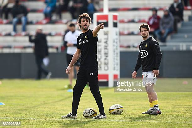 Xavier Garbajosa Coach and Arthur Retiere of La Rochelle during the French Top 14 match between Toulon and La Rochelle on January 28 2017 in Toulon...