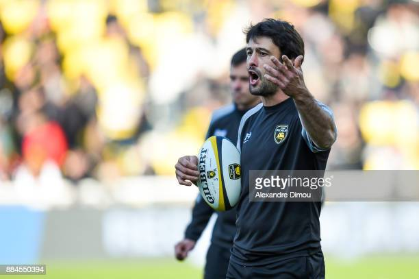 Xavier Garbajosa Coach of La Rochelle during the Top 14 match between La Rochelle and Montpellier on December 2 2017 in La Rochelle France