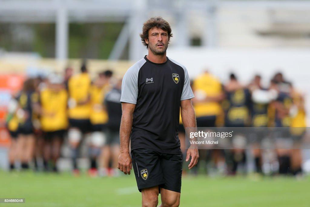 Xavier Garbajosa of La Rochelle during the pre-season match between Stade Rochelais and SU Agen on August 17, 2017 in La Rochelle, France.