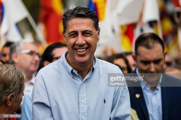 Xavier Garcia Albiol of Partido Popular during the Spanish National day celebrations in Barcelona on October 12 2018